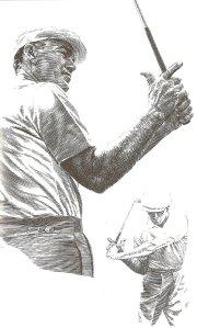 Cầm gậy với ngón cái và ngón trỏ của bàn tay phải nhấc khỏi thân gậy sẽ giúp golfer tập quen cảm giác của một tay cầm mạnh mẽ, chuẩn xác trong đó cả hai bàn tay phối hợp cùng với nhau như một đơn vị.